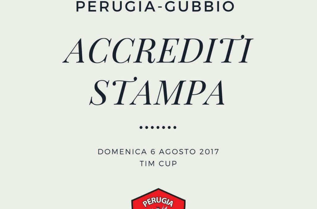Accrediti stampa Perugia-Gubbio