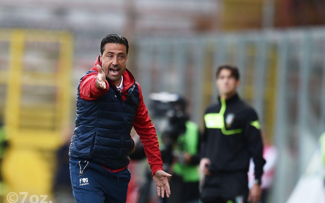 Il tecnico Giunti al termine di Perugia-Pro Vercelli