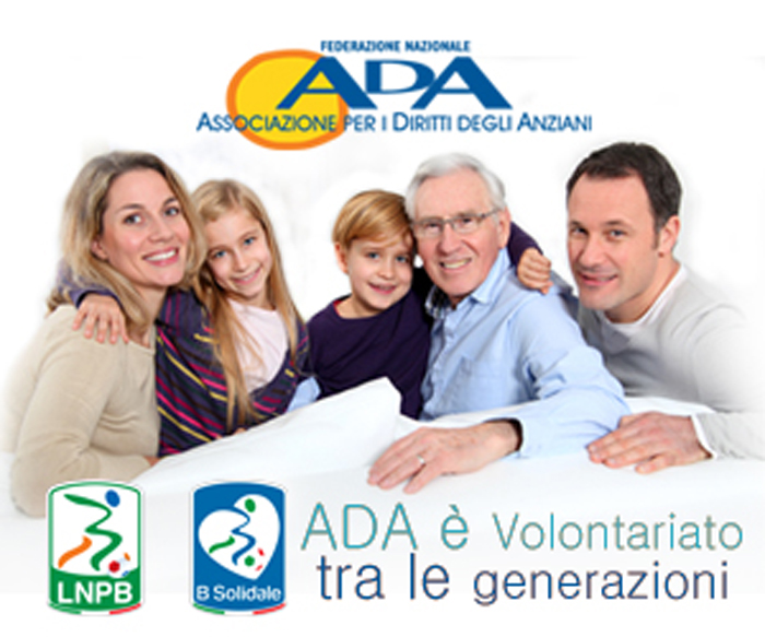 Lega B e B solidale al fianco dell'Ada dal 3 febbraio