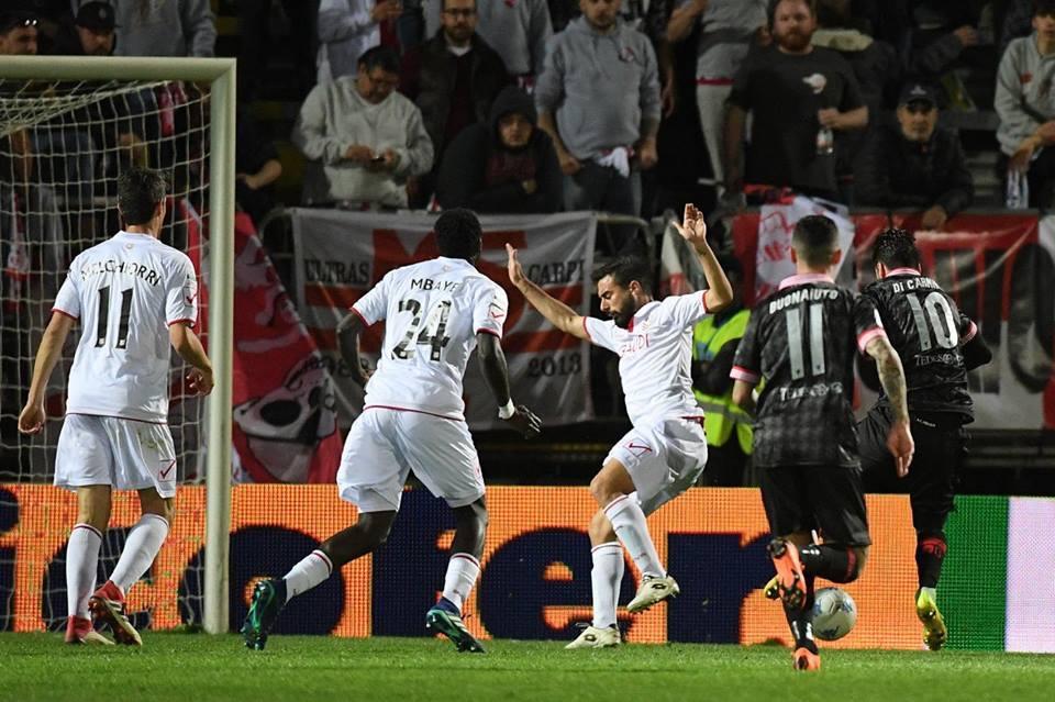Carpi-Perugia termina 1-2