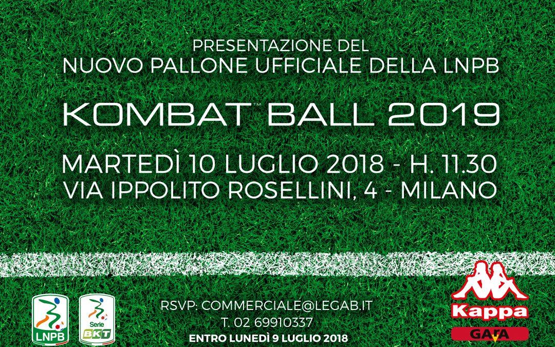 Martedi la presentazione del nuovo pallone della Serie BKT