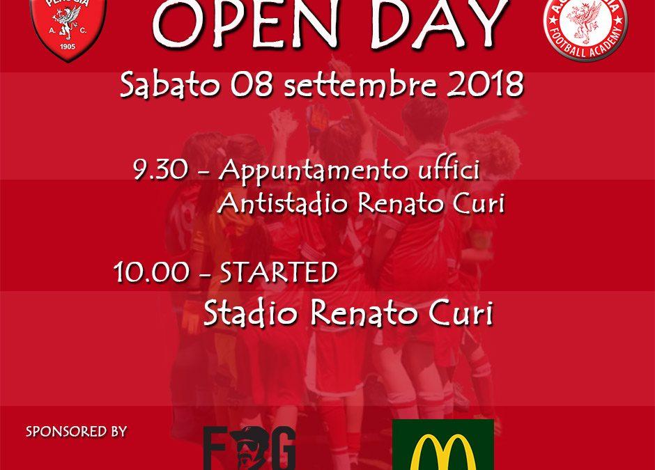 Open day: parte l'8 settembre la scuola calcio del Perugia