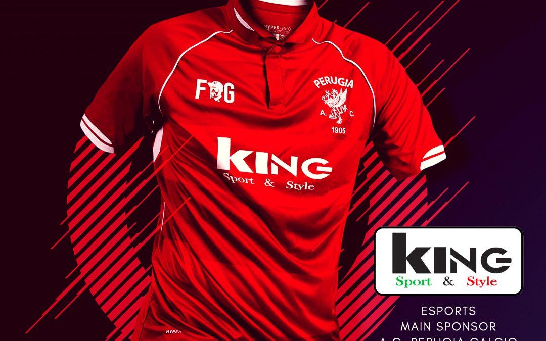 King è il nuovo main sponsor AC Perugia esports