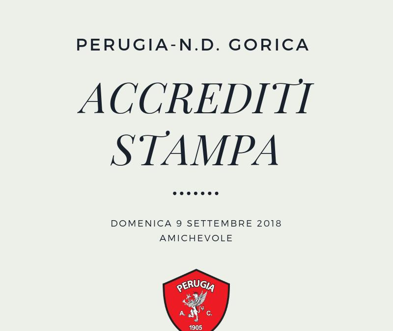 Richiesta accrediti stampa Perugia-N.D. Gorica