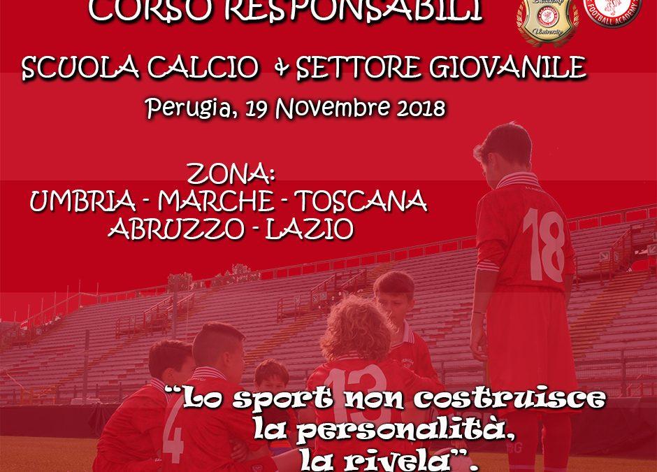 Academy: 19 novembre corso per responsabili scuole calcio, settori giovanili e direttori tecnici