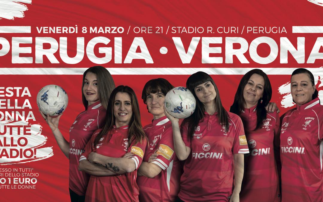 "PERUGIA-H.VERONA venerdì 8 marzo: tariffa ""RIDOTTO DONNA"""