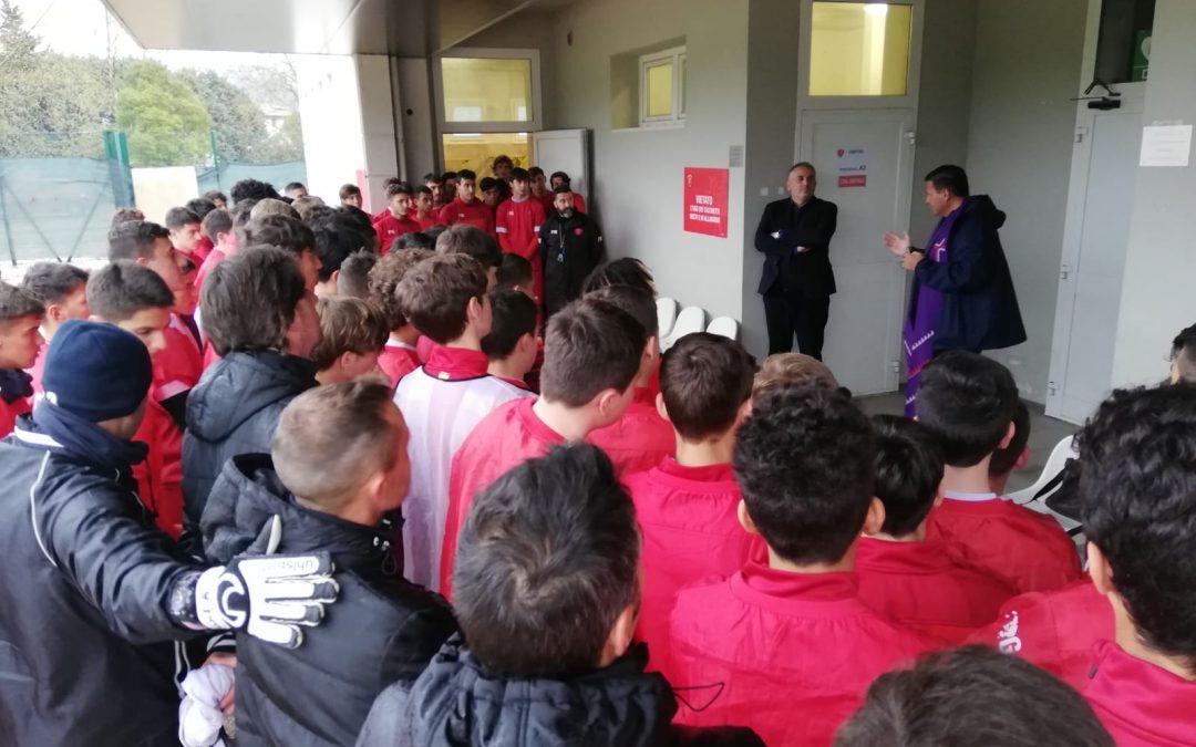 Don Mauro incontra i ragazzi del settore giovanile