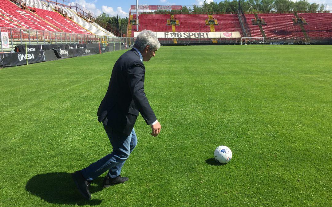 Paolo Rossi allo stadio Renato Curi