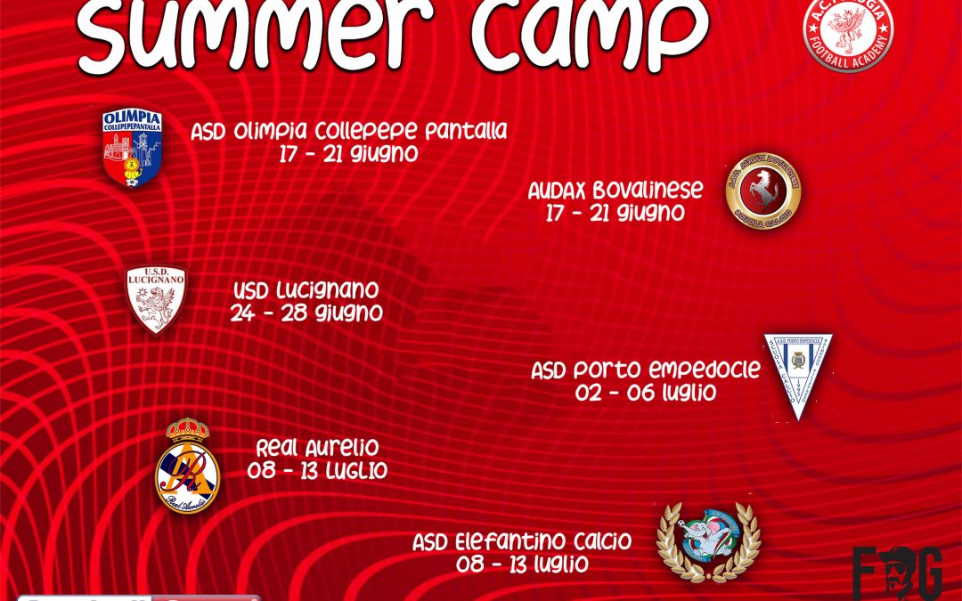 Tra giochi e divertimento arrivano i Summer Camp biancorossi