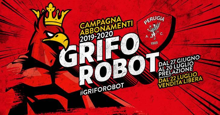 GRIFO ROBOT: al via la campagna abbonamenti 2019/2020