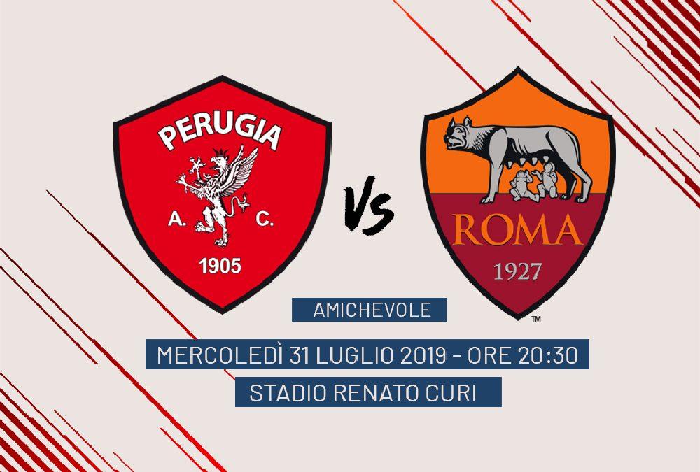 Amichevole Perugia-Roma, 31 luglio stadio Renato Curi