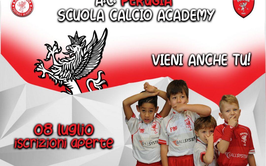 A.C. Perugia Scuola Calcio Academy: dall'8 luglio aperte le iscrizioni