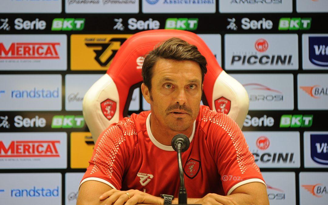 Mister Oddo in conferenza alla vigilia di Perugia-Juve Stabia