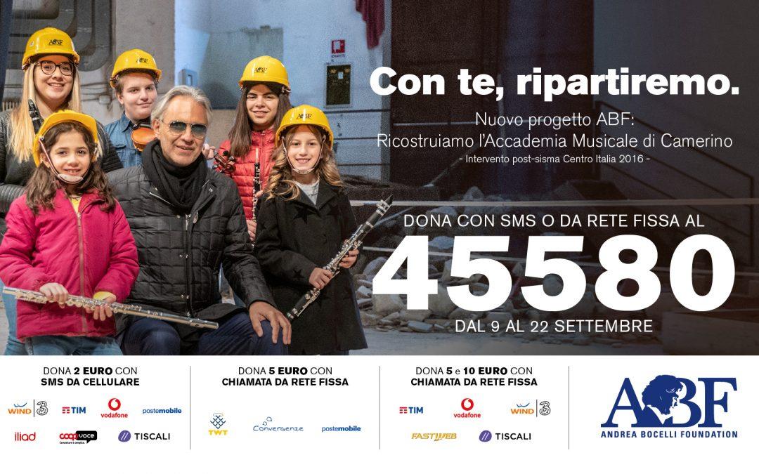 Lega B insieme a Andrea Bocelli Foundation