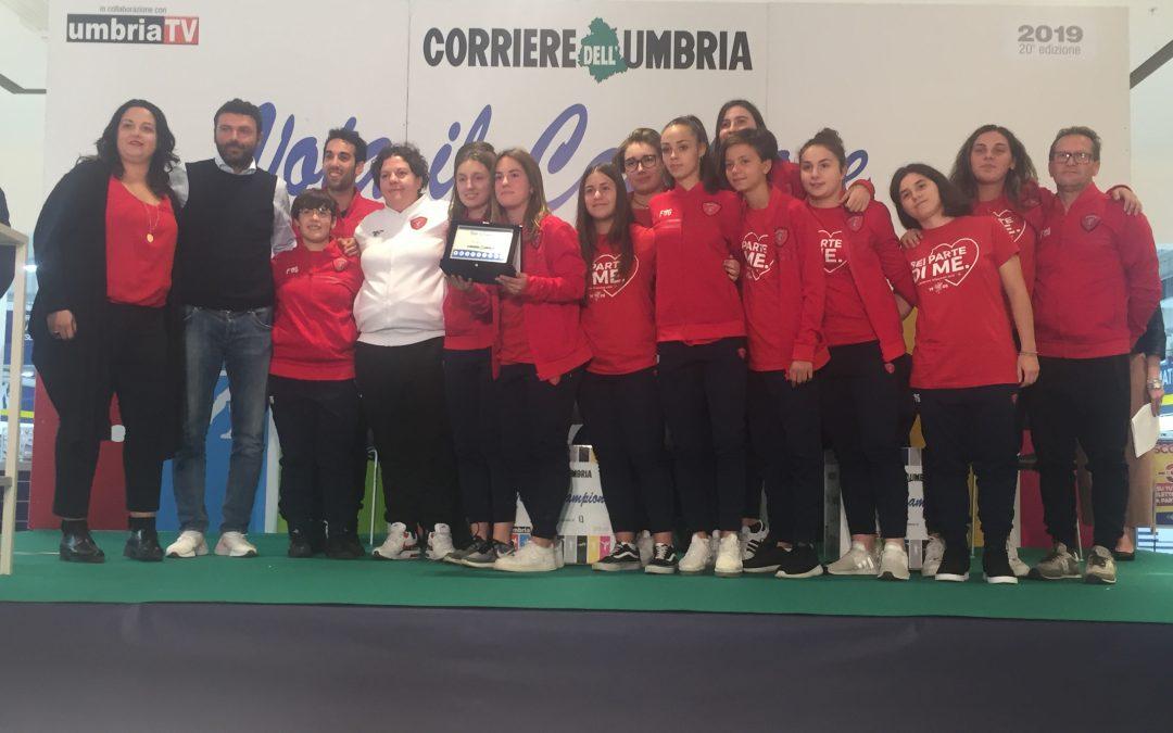 Goretti e la Juniores Femminile premiati a Vota il campione