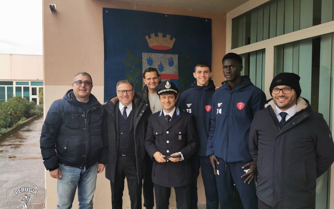 Bambini senza sbarre: il Perugia visita il complesso penitenziario di Capanne