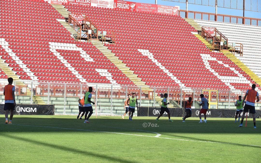 Doppia seduta al centro sportivo, domani partenza per Cascia