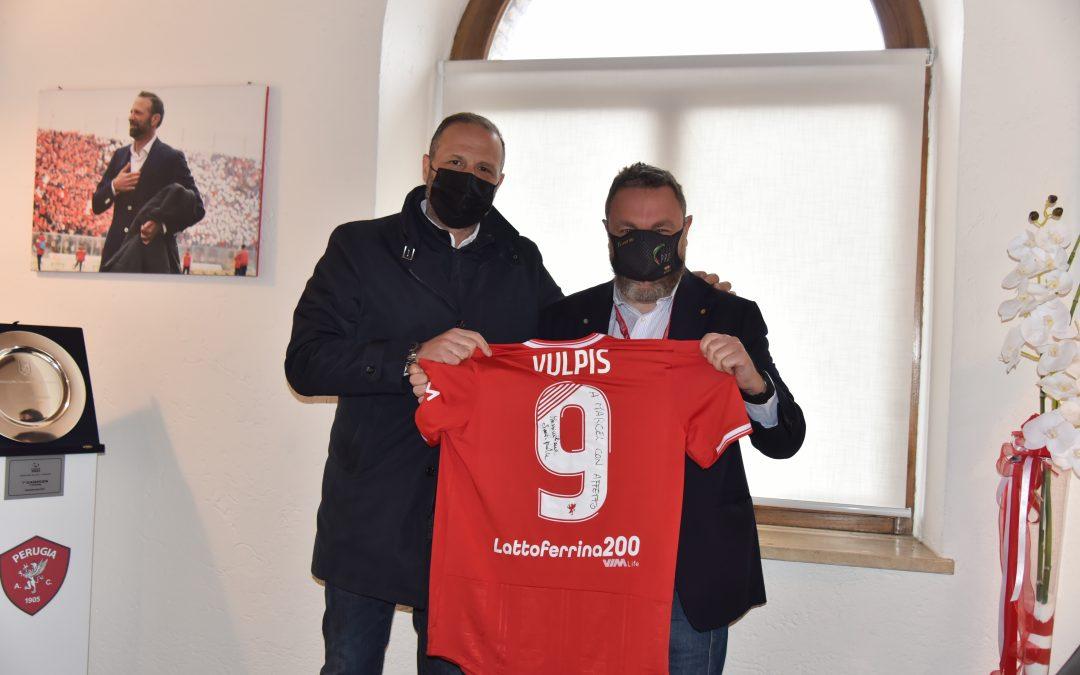 LEGA PRO   Marcel Vulpis in visita al Perugia Calcio